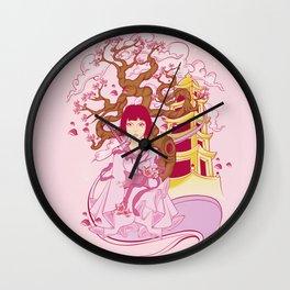Girl Samurai Wall Clock