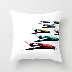 March of the Peacocks Throw Pillow