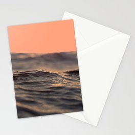 Peach Waves Stationery Cards