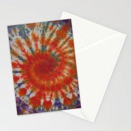 Tie Dye Spiral Galaxy Orange Purple Green Blue Stationery Cards
