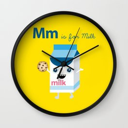 M is for Milk Wall Clock