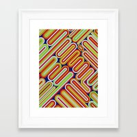 70s Framed Art Prints featuring 70s Kitsch by Roberlan Borges