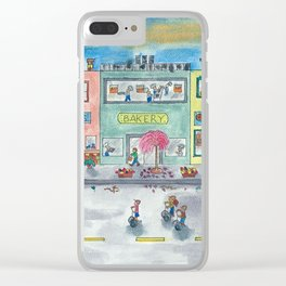 Happy Town II Clear iPhone Case