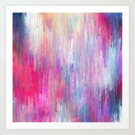 Colorful Abstract Paint Cascade Design Art Print
