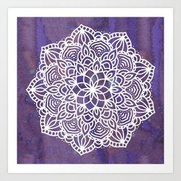 Ultraviolet Mandala #buyart #ultraviolet #mandala #society6 Art Print