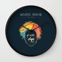 paramore Wall Clocks featuring Music to DYE for — Music Snob Tip #075 by Elizabeth Owens