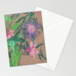 Thistle / Wildflowers, Pastel Sketch Stationery Cards