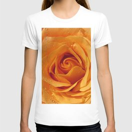 Gold Rose Bud- Orange Roses and flowers T-shirt
