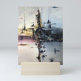 Harbor Abstract Mini Art Print