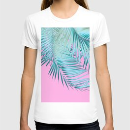 Palm Leaves Pink Blue Vibes #1 #tropical #decor #art #society6 T-shirt