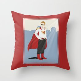 The Hero of Miami Throw Pillow