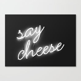 Say Cheese (Black and White) Canvas Print