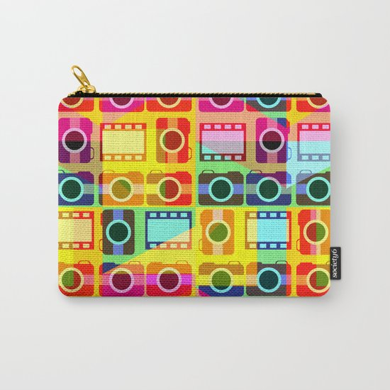 Colorful camera pattern Carry-All Pouch