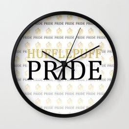 Hufflepuff Pride Wall Clock
