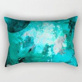 Blue Galaxy art Rectangular Pillow
