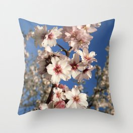 Almond blossom on the tree Throw Pillow