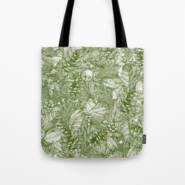 forest floor green ivory Tote Bag