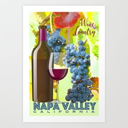 Napa Valley Wine Country Poster Art Print
