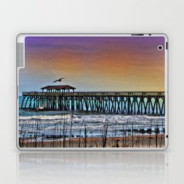 Myrtle Beach State Park Pier - Photo as Digital Paint Laptop & iPad Skin