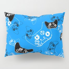 Video Game in Blue Pillow Sham