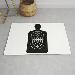 Human Shape Target Rug