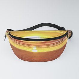Golden Sunset Beach by Reay of Light Fanny Pack