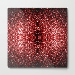 Beautiful Glamour Red Glitter sparkles Metal Print