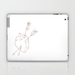 Cupid Heart in Pink Rose Gold Laptop & iPad Skin
