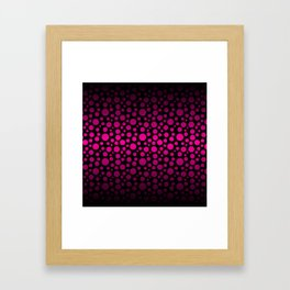 Black to Pink Gradient Colored Circles Framed Art Print
