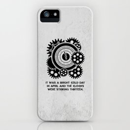 George Orwell - 1984 - Clock Striking 13 iPhone Case