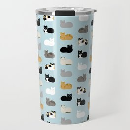 Cat Loaf Print Travel Mug