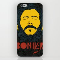 bon iver iPhone & iPod Skins featuring Bon Iver by Oliveira37/Tadeu Amaral