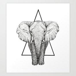 Wisdom Elephant Art Print