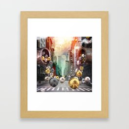 New York City Spill Framed Art Print