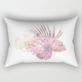 Lets draw a Lionfish Rectangular Pillow