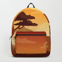 Abstract African Safari Backpack