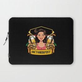Oktoberfest Frau Drindl Beer Laptop Sleeve