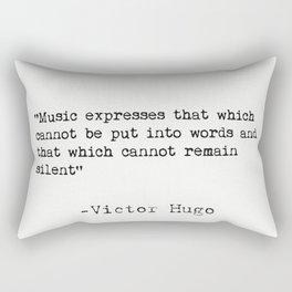 Victor Hugo quote Rectangular Pillow