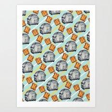 Toaster Pattern Art Print