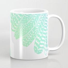 TRIBAL FEATHERS - SEAFOAM Coffee Mug