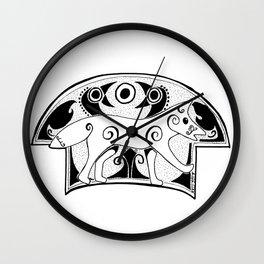 Norse Fox Wall Clock