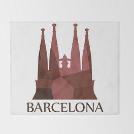 Sagrada Familia Throw Blanket