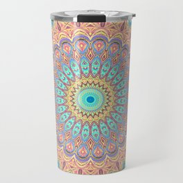 Jewel Mandala Faded - Mandala Design Travel Mug