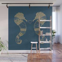 <3 of seahorses Wall Mural