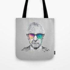 Albert Hofmann - Psychedelic Polygon Low Poly Portrait Tote Bag