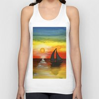 tequila Tank Tops featuring Tequila Sunset by William Gushue