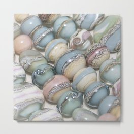 Organic Beads Metal Print