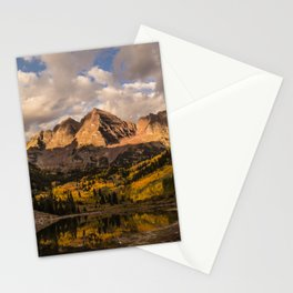 Beginning of Fall at Maroon Bells Stationery Cards