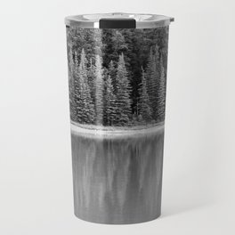 Forest Across the Lake (Black and White) Travel Mug