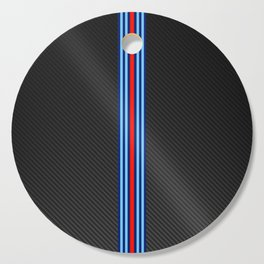 Carbon Racing Stripes Cutting Board